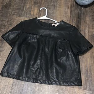 Forever 21 Leather Top